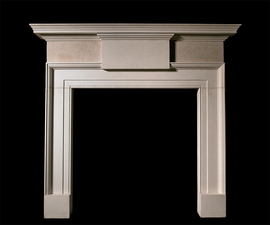 Newberry – Limestone Fireplace