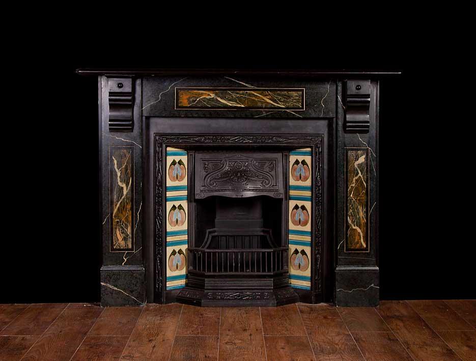Slate Fireplace – SL002