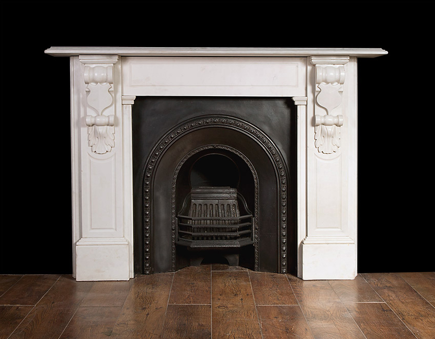 Original victorian white statuary marble fireplace Victorian fireplace restoration