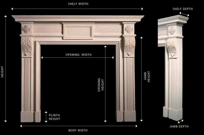 Fireplace Anatomy Reproduction Fireplaces and Reproduction Chimney pieces from Ryan & Smith LTD specialists in Antique Fireplaces