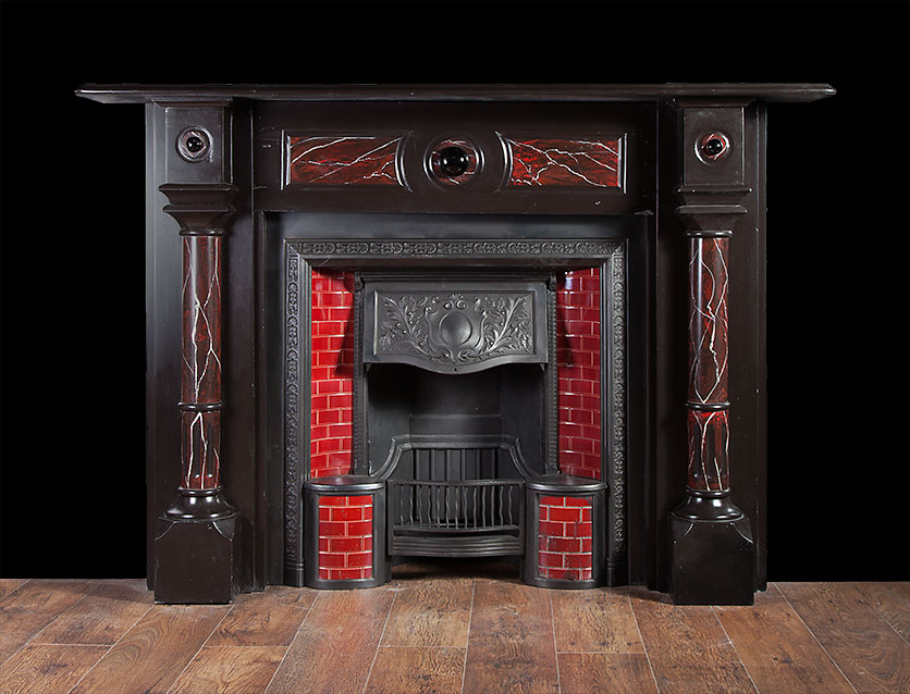 Columned Slate Fireplace – SL016