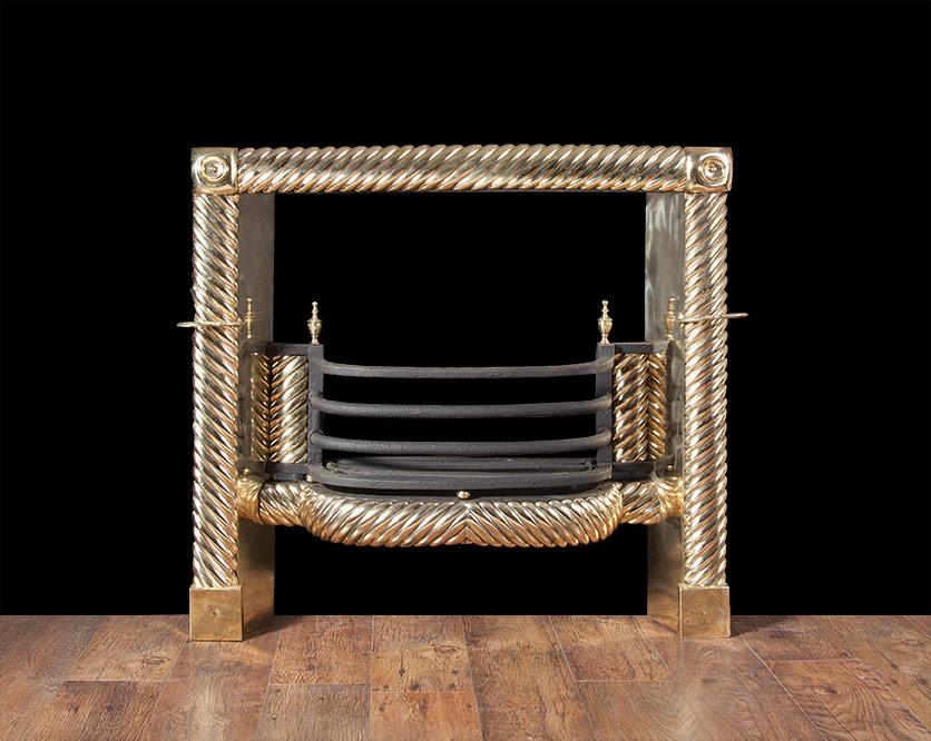Georgian Brass Register Grate – AG043