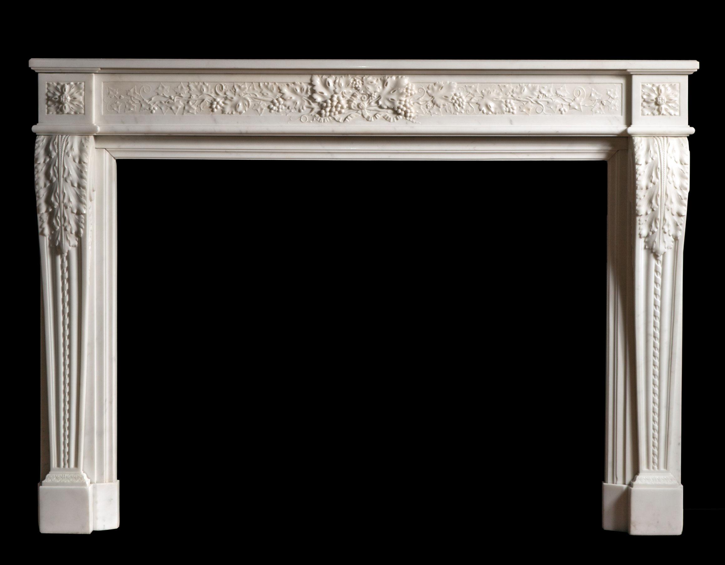 Fleur – French Louis XVI Style Fireplace