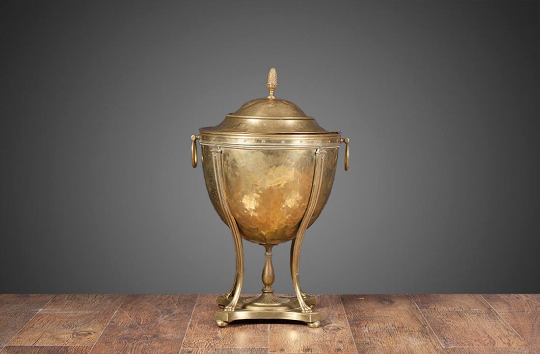 Antique Brass Coal Bucket – AB007