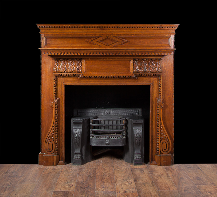 Antique Wooden Fireplace Surrounds Fireplaces