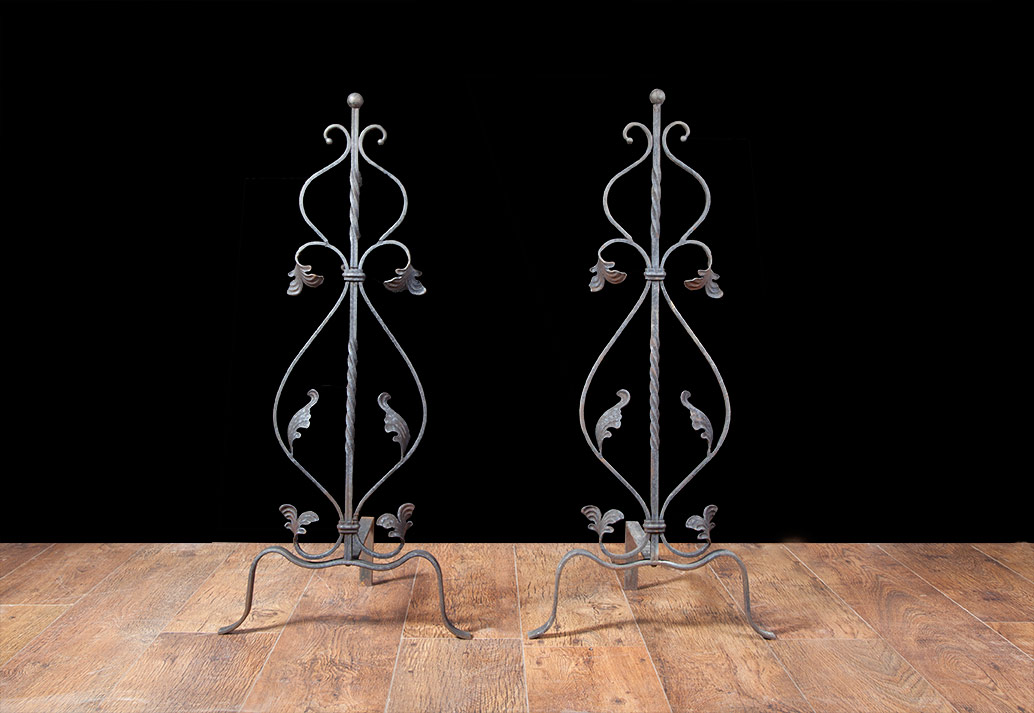 Arts and Crafts Metal Andirons – AI014