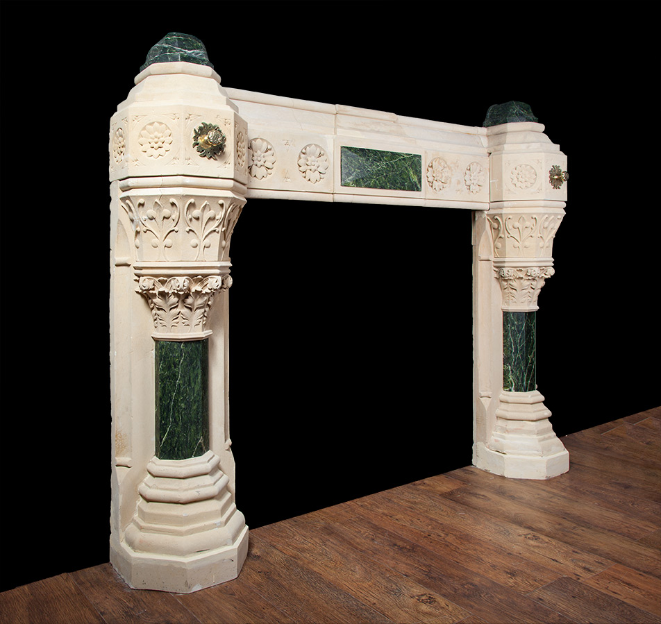 Gothic Revival Fireplace In The Manner Of Augustus Pugin # Augustus Pugin Muebles