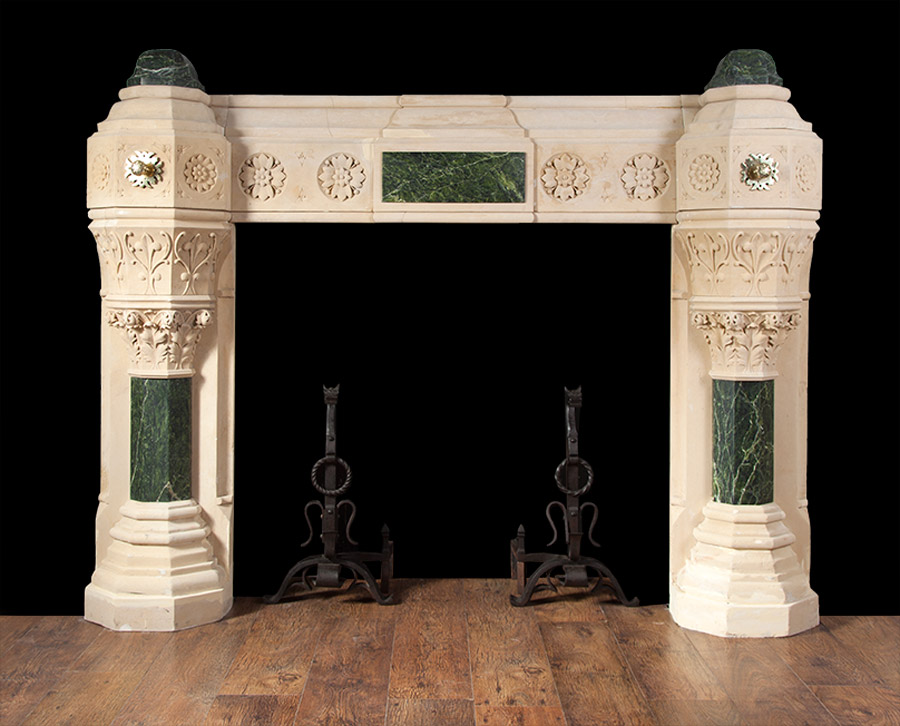 Gothic Stone Fireplace – ST009