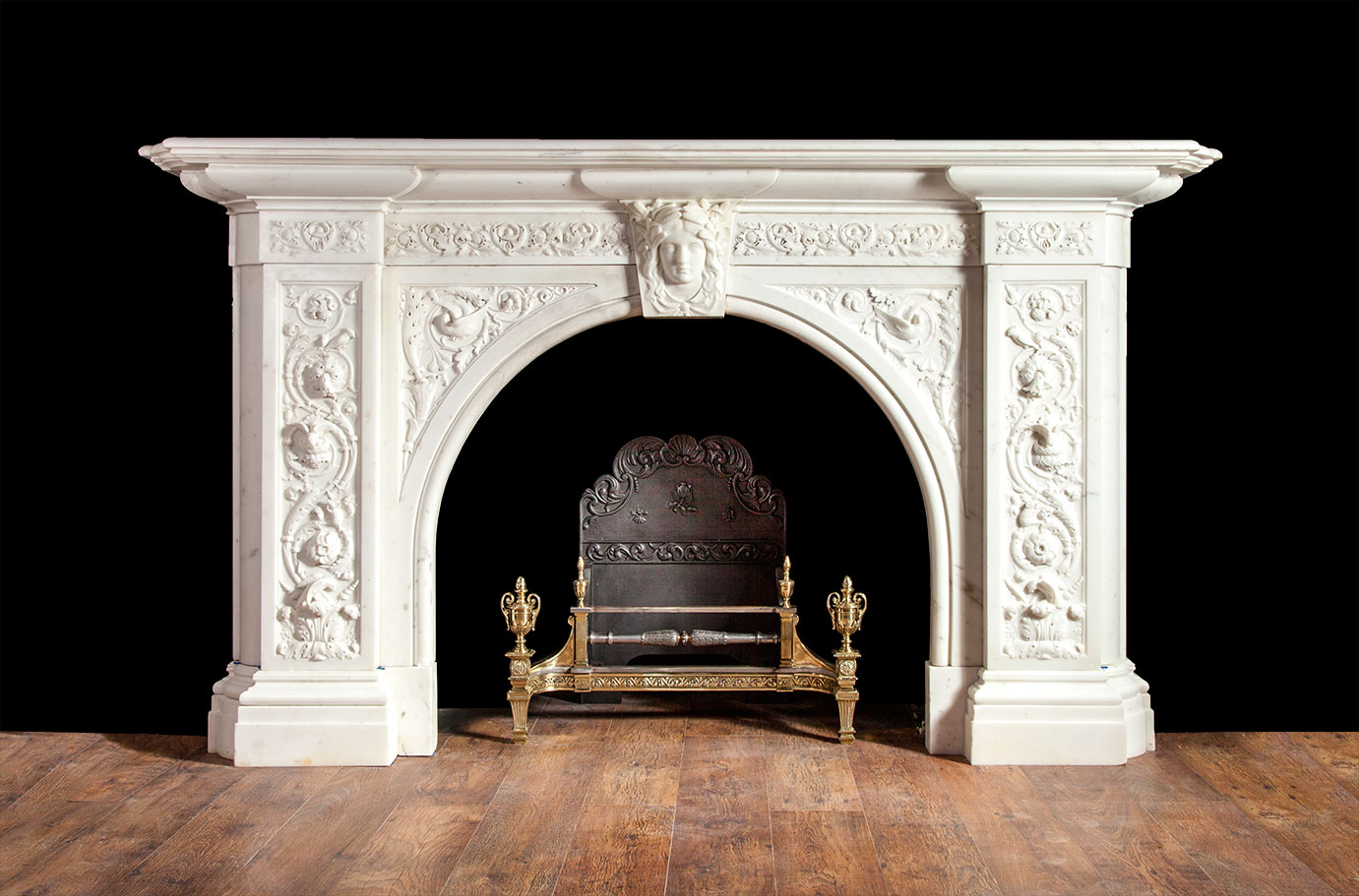 Antique Marble Fireplace – 19127