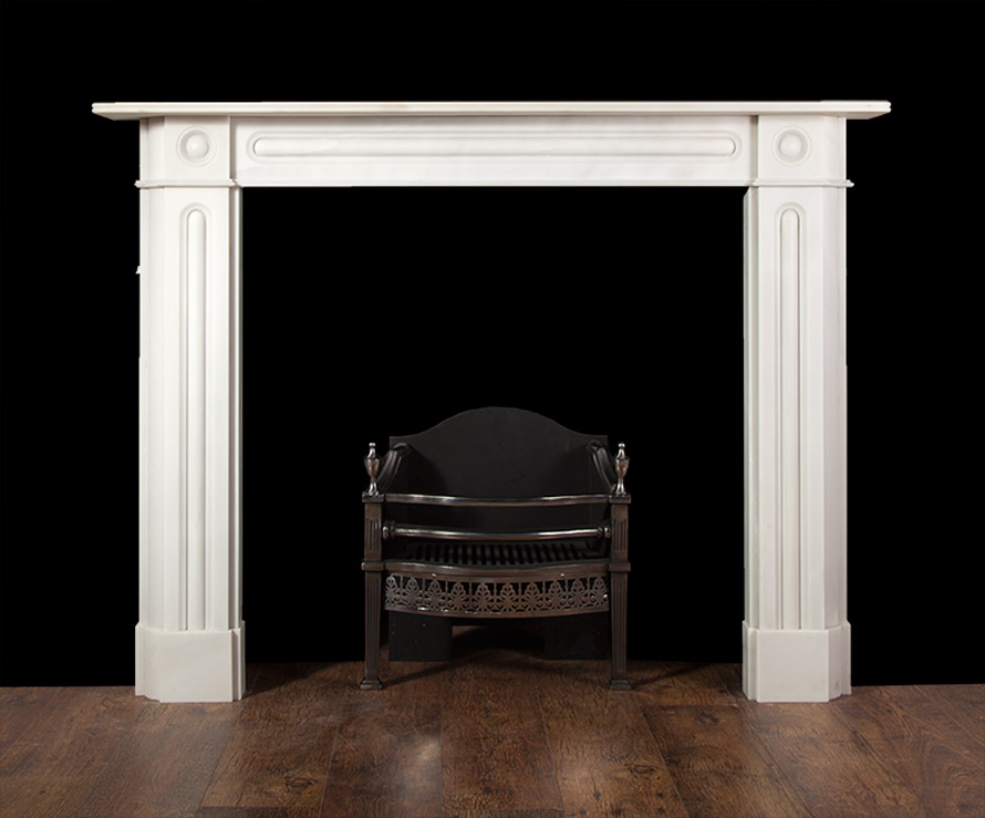 Oxford – Marble Bulls-eye Fireplace