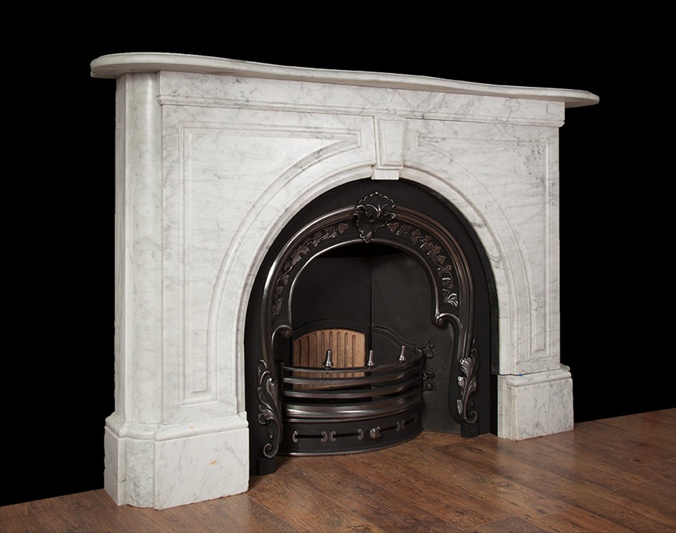 Victorian Carrara Marble Fireplace