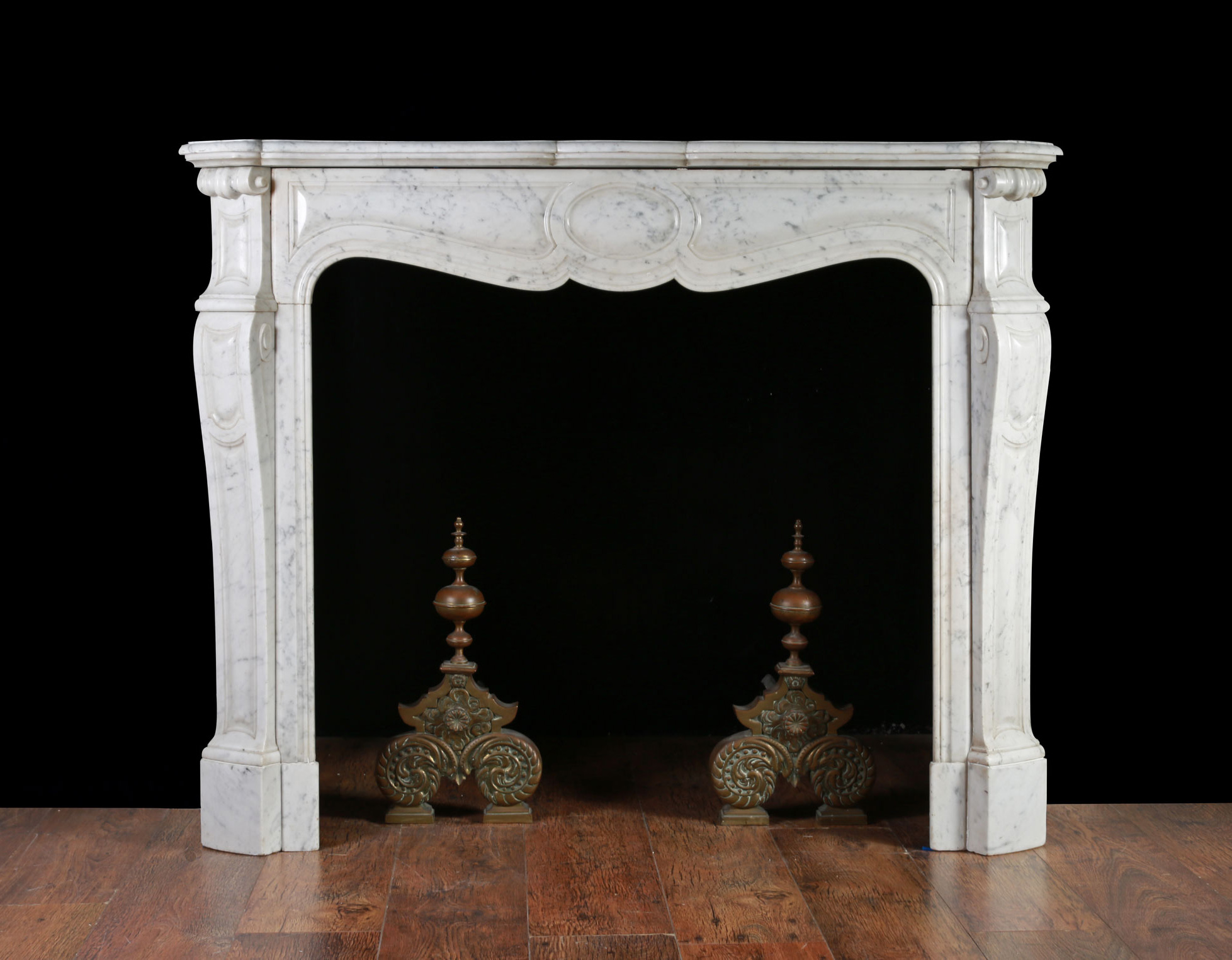 Antique French Fireplace Surround In The Louis Xv Manner