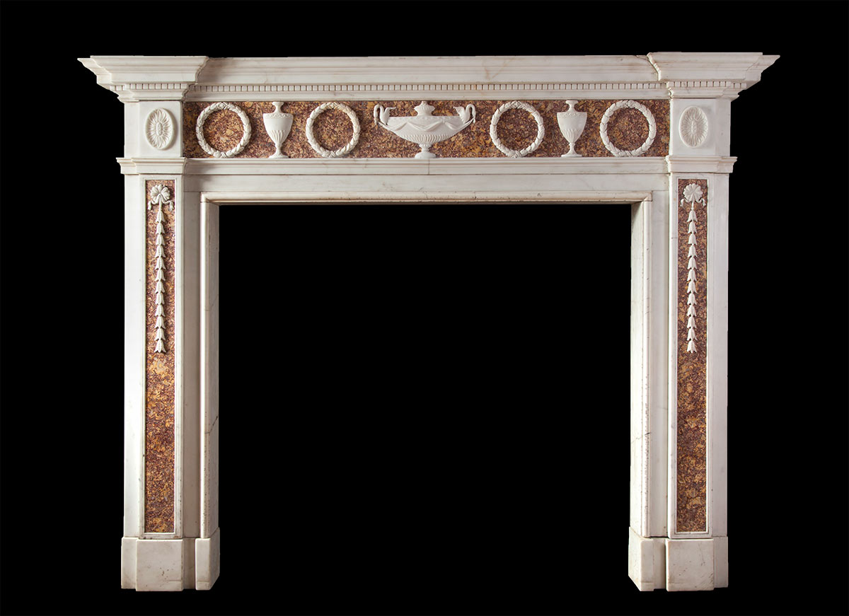 Adam Style Antique Marble Fireplace – 18143