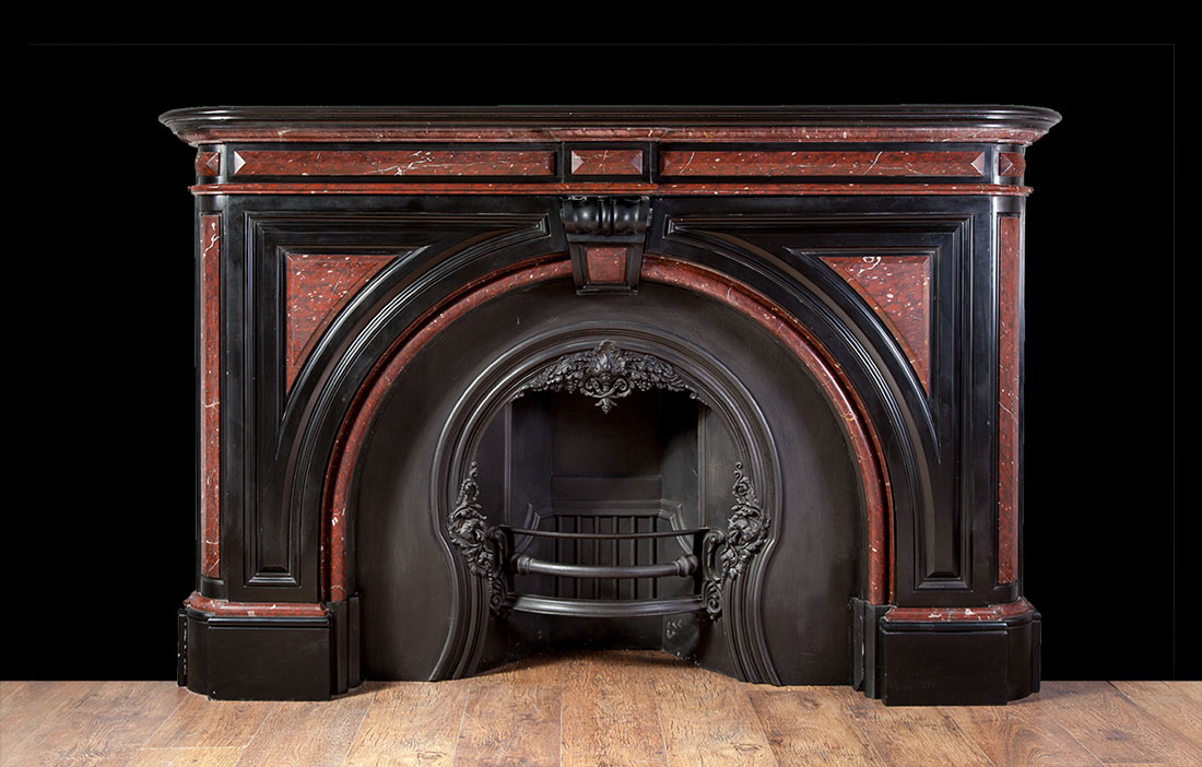 Black Marble Victorian Fireplace 19064 Antique Marble