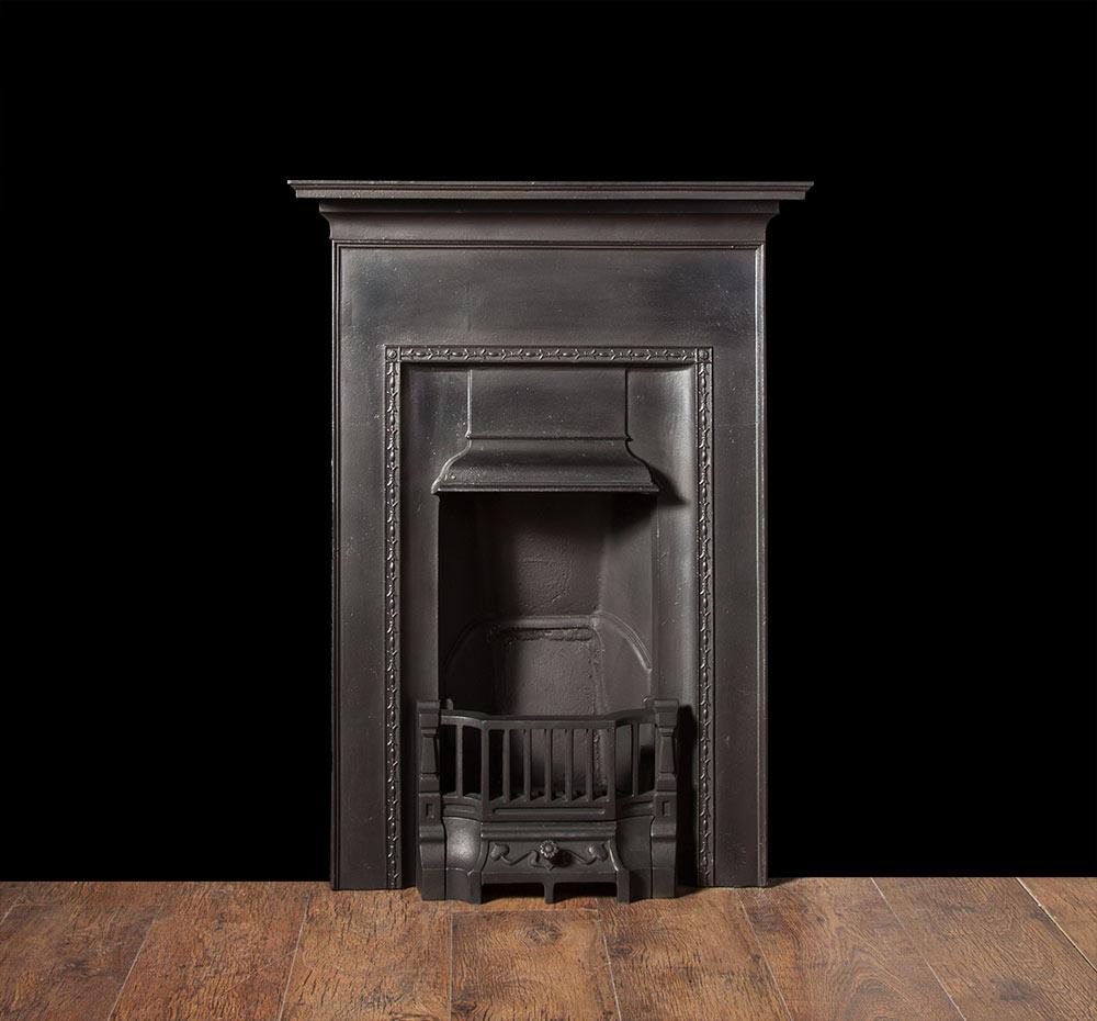 cast iron fireplace ci142 20th century antique cast iron