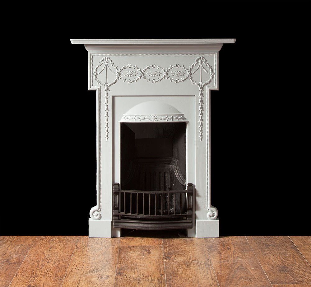 Cast Iron Bedroom Fireplace Ci145 19th Century 20th