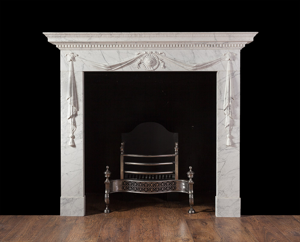 Wyatt – Carrara Marble Fireplace