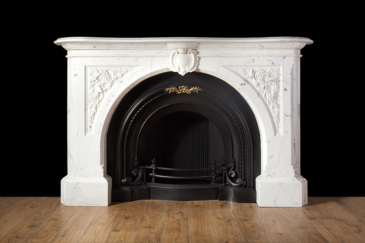 carved victorian fireplace 19208 antique marble