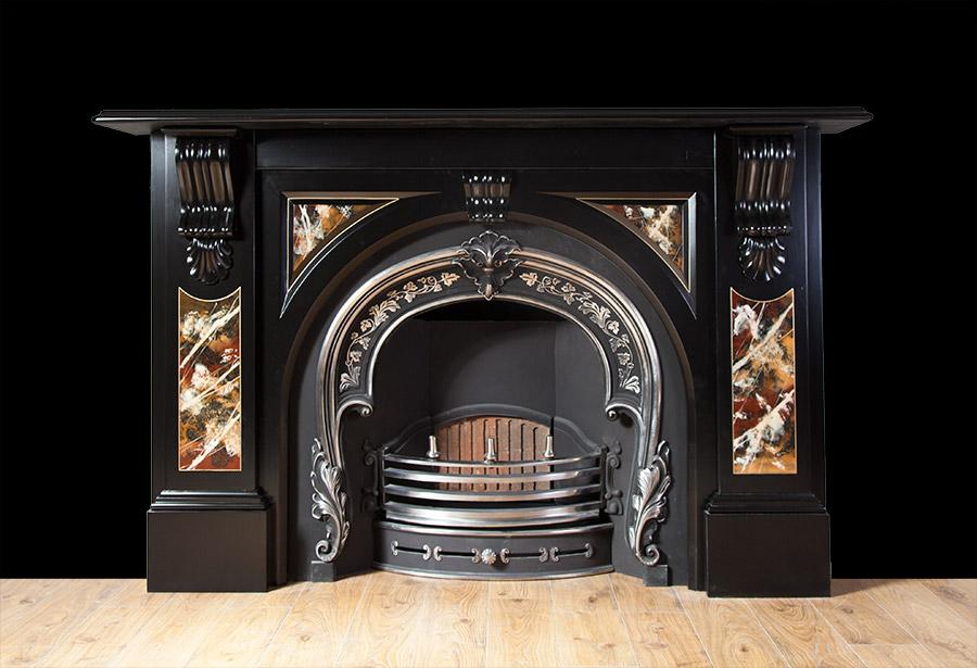 Antique Slate Fireplace – SL026
