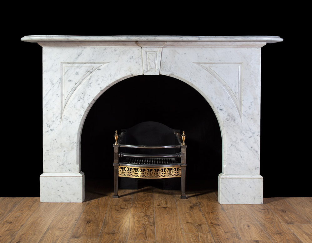 Victorian Carrara Fireplace 19216 Antique Marble: victorian fireplace restoration