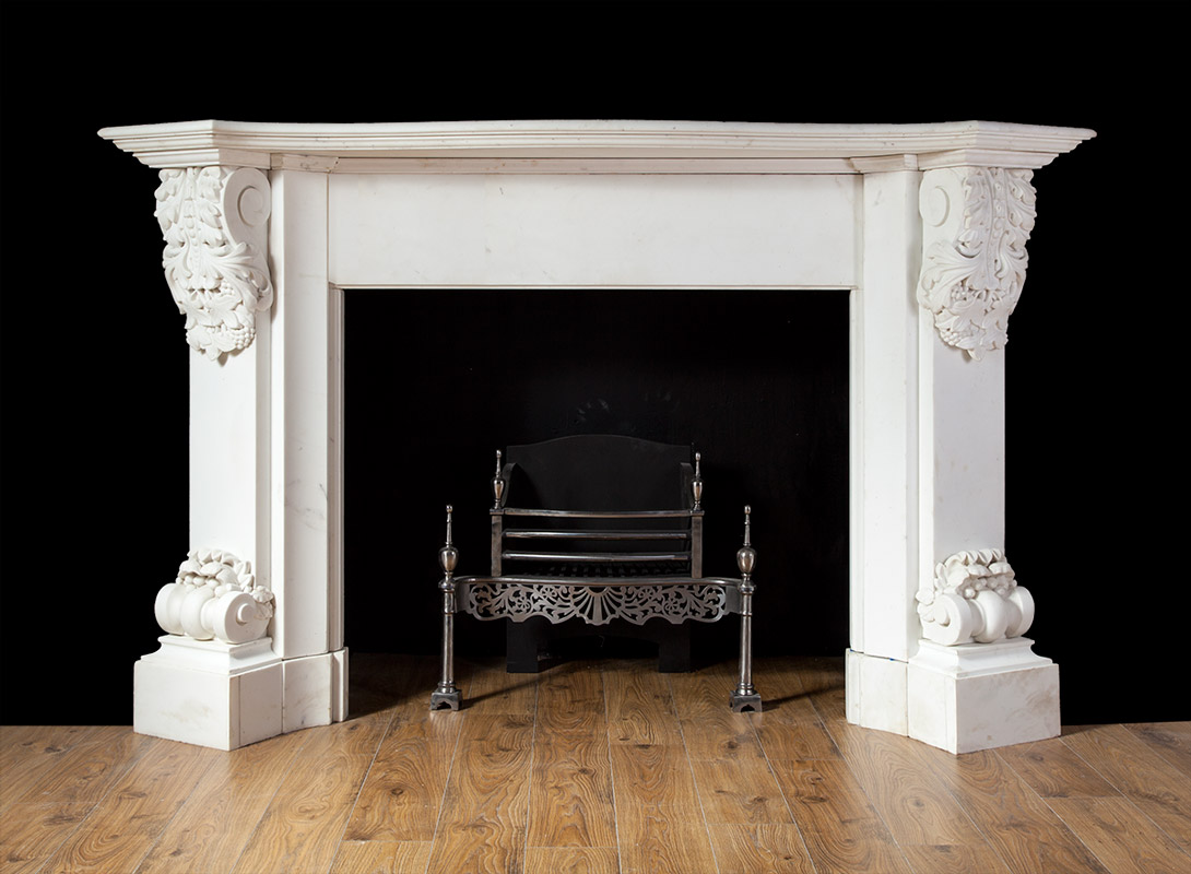 carved white marble fireplace 19217 antique marble