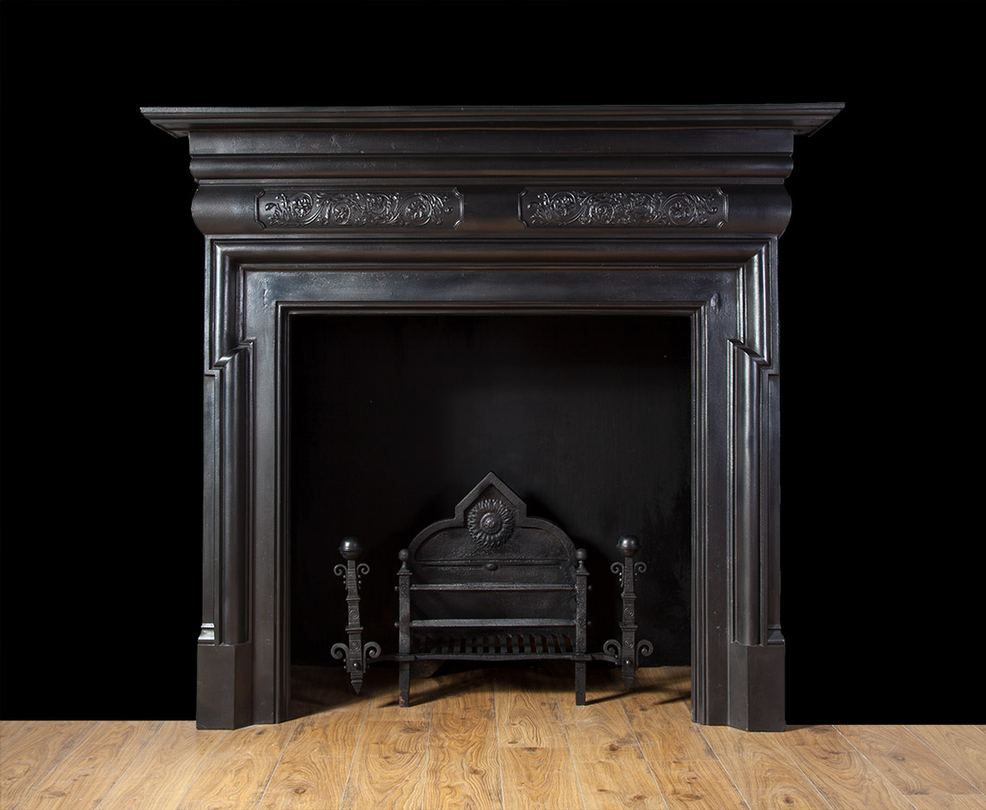 Antique cast iron fireplace – Ci158