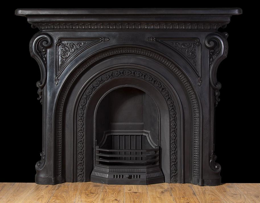 Antique Cast Iron Fireplace Ci160 19th Century