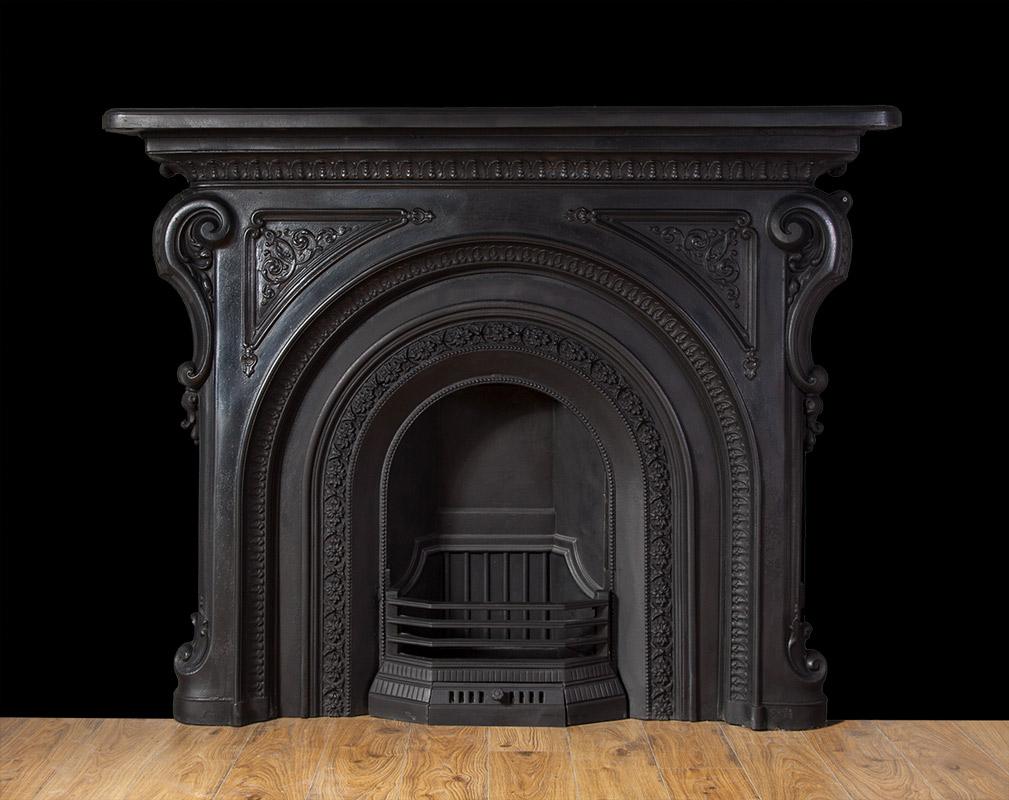 Antique Cast Iron Fireplace – Ci160