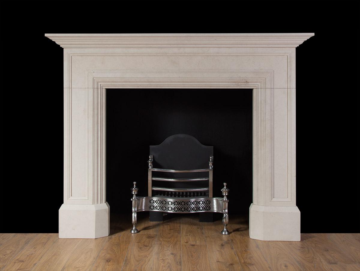 Stewart – Limestone fireplace