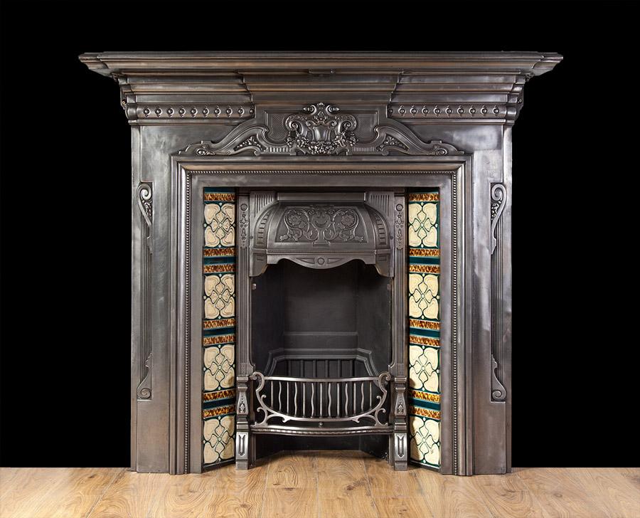 Polished Cast Iron Fireplace – Ci161