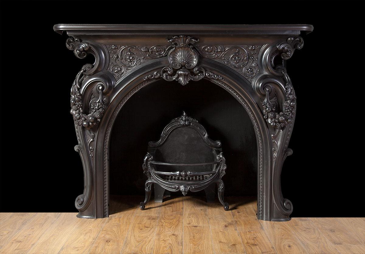 Cast Iron Rococo Fireplace – Ci162