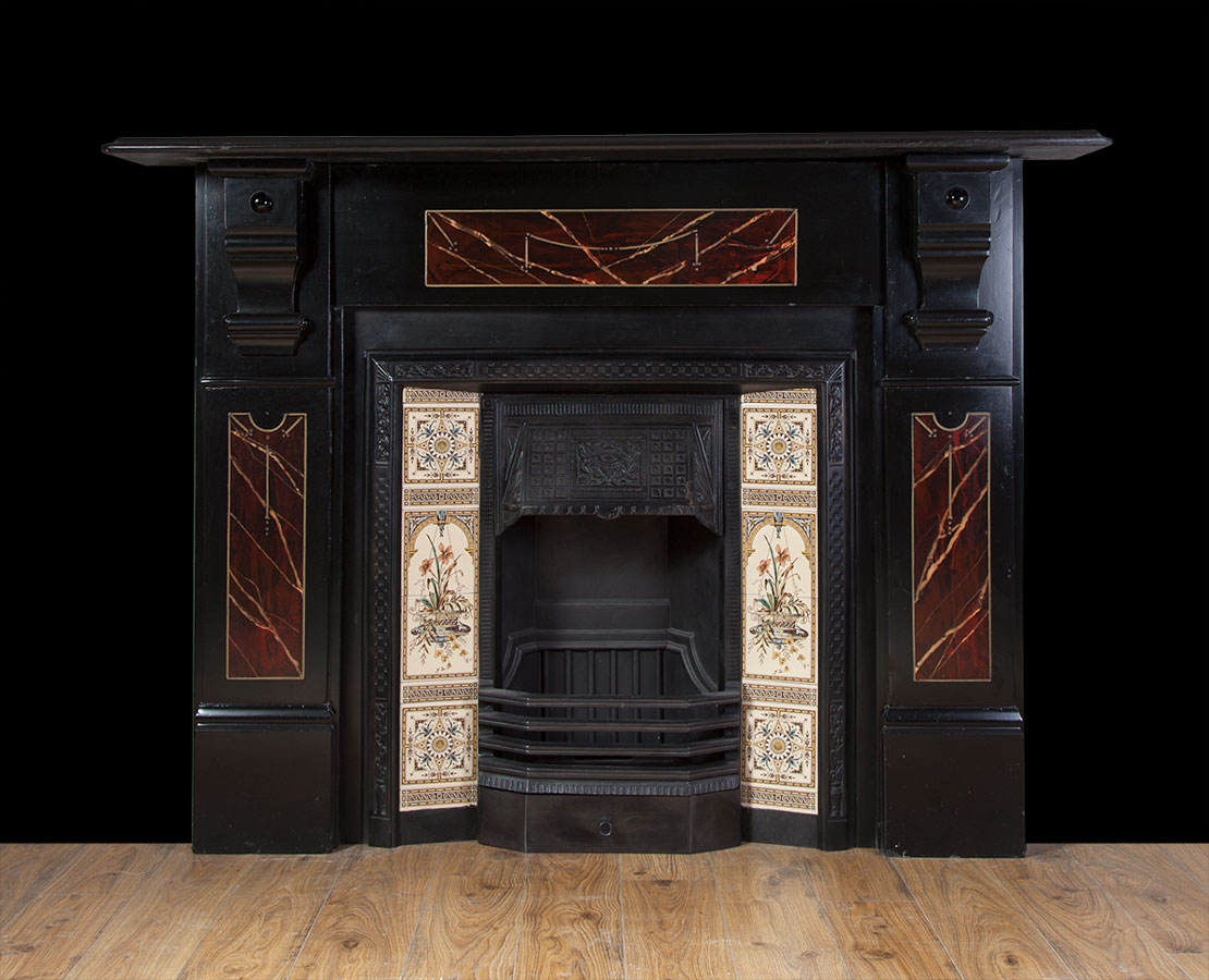 Antique Slate Fireplace – SL030