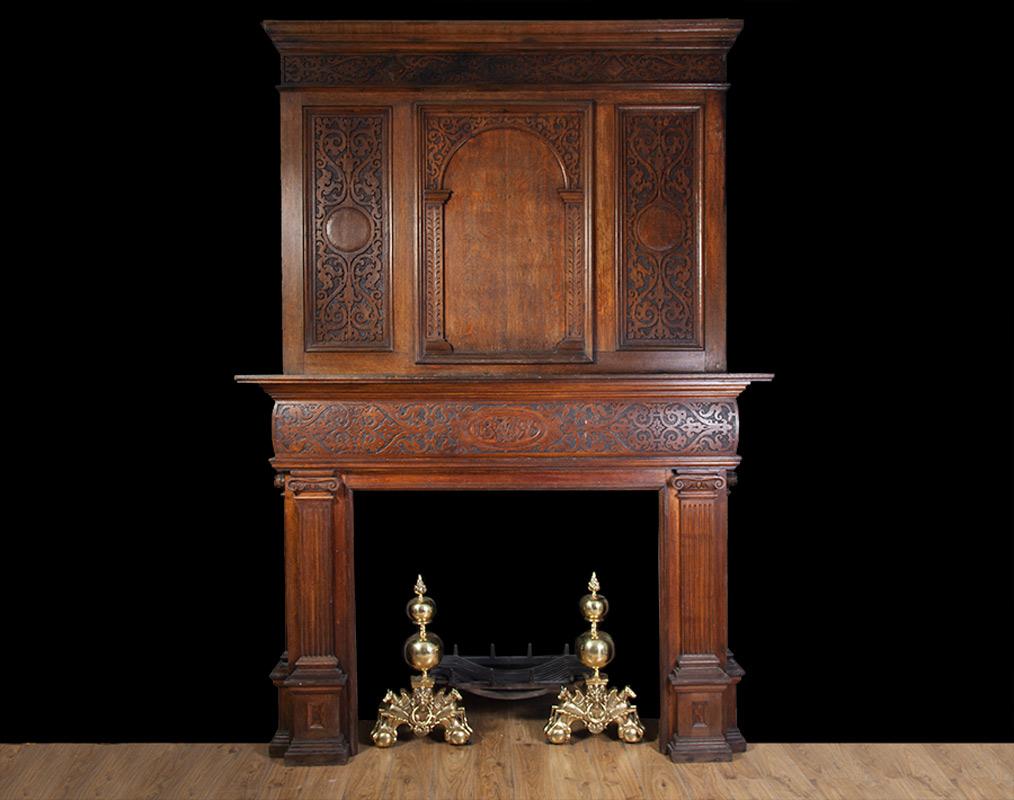 Jacobean Oak Mantel – W088