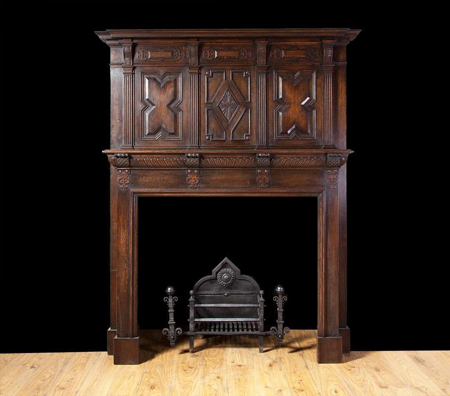 Jacobean Oak Mantelpiece – W090