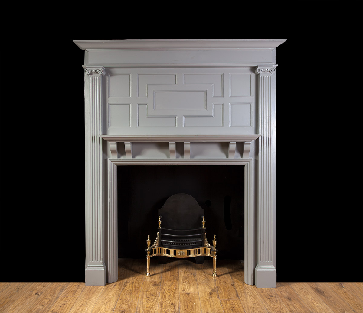 Painted Wooded Fireplace – W092