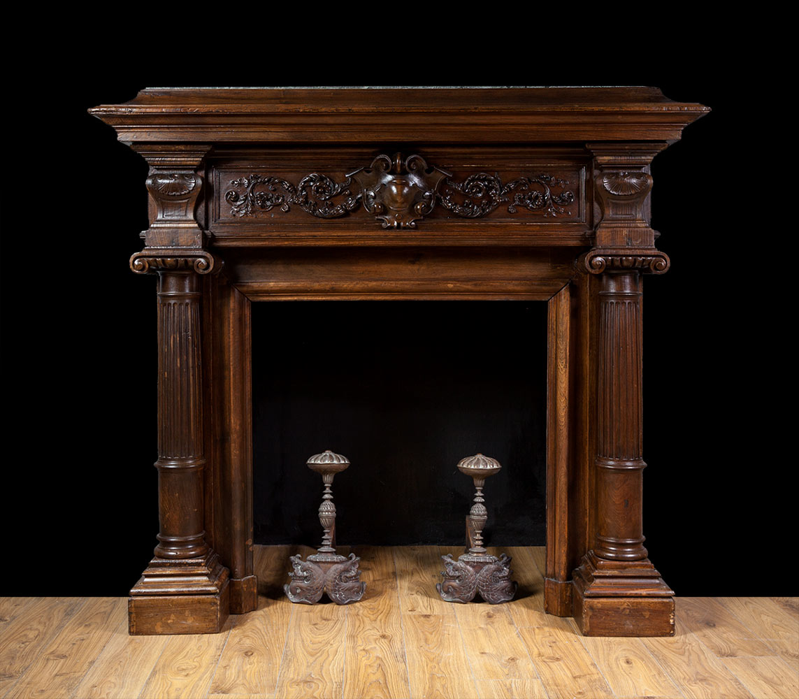 French Walnut Fireplace – W095