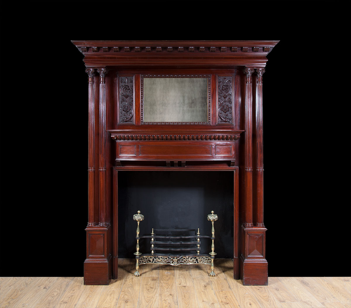 Antique Mahogany Mantelpiece – W096
