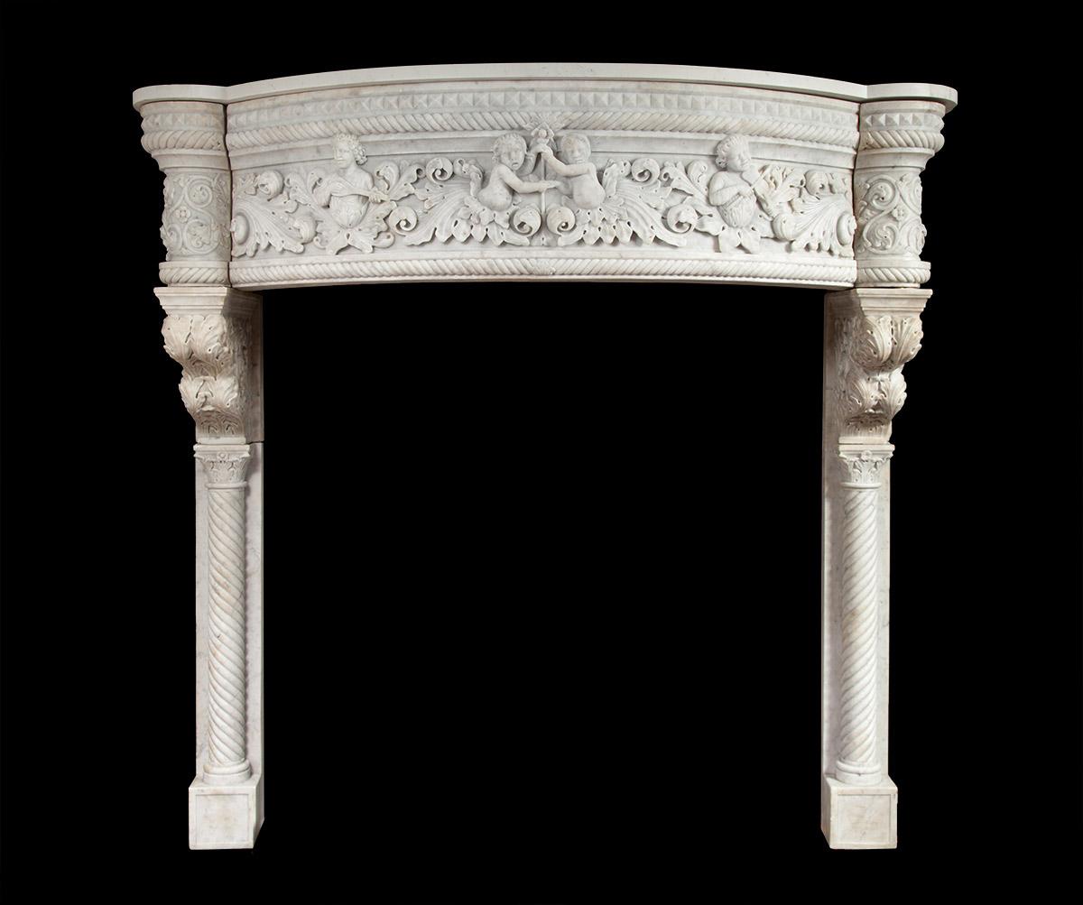 Renaissance Marble Mantel – 19227