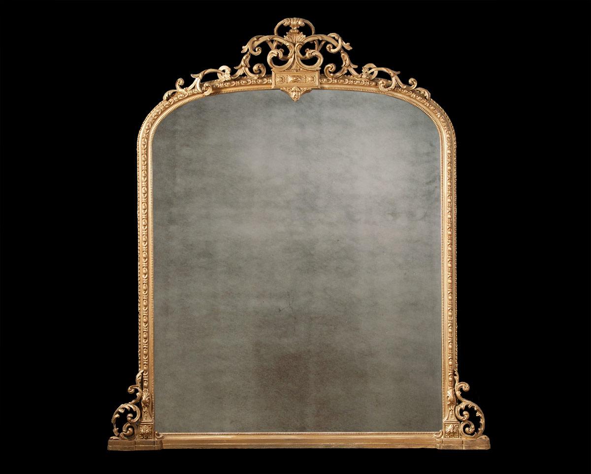Decorative Gilt Overmantel – AF036