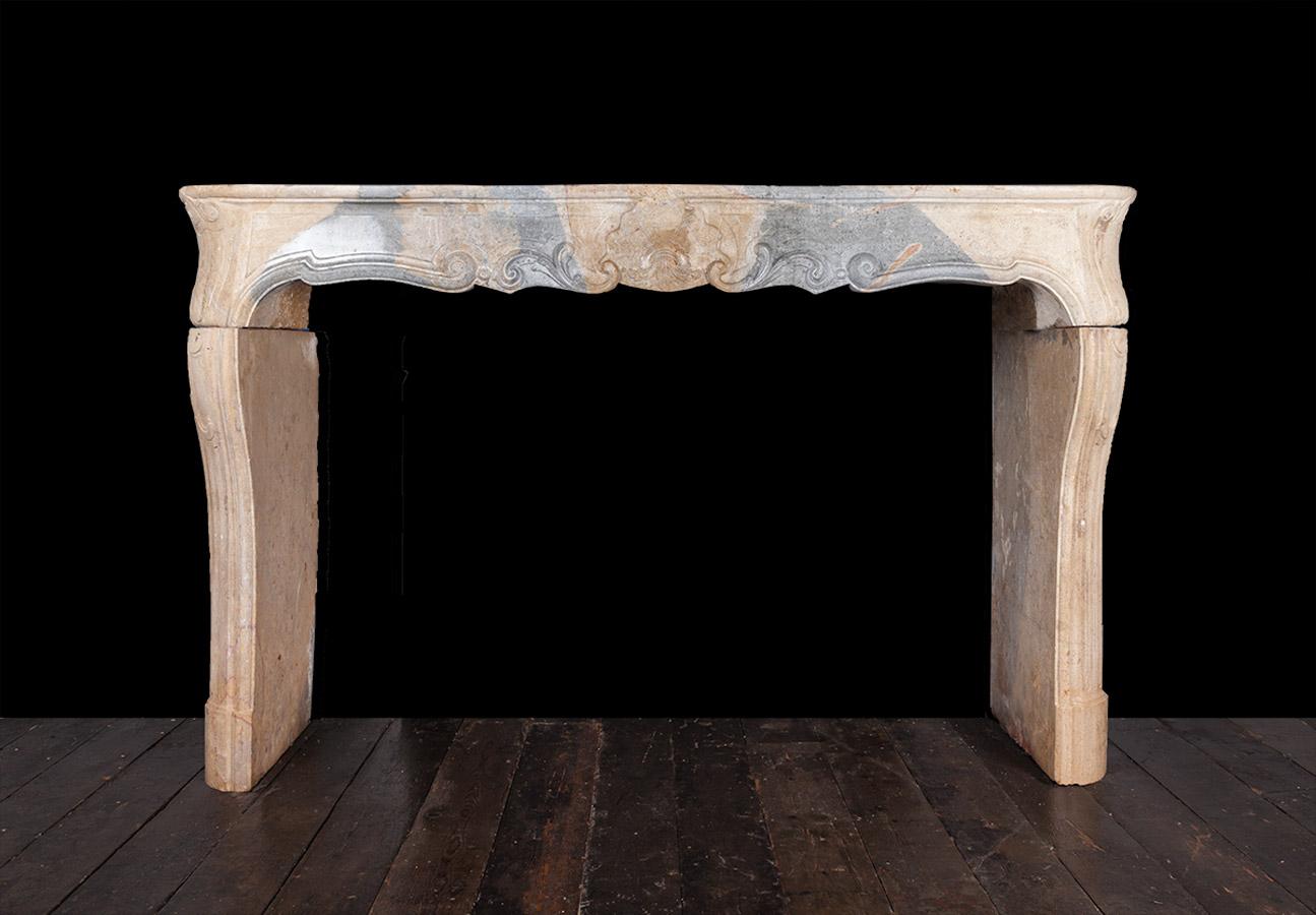 French Limestone Fireplace – 19240