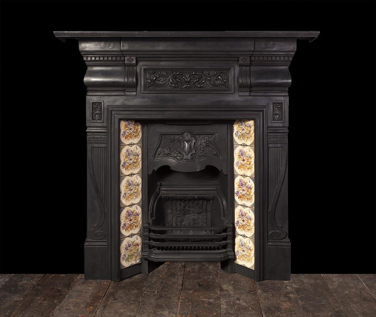 Antique Cast Iron Fireplace – Ci169