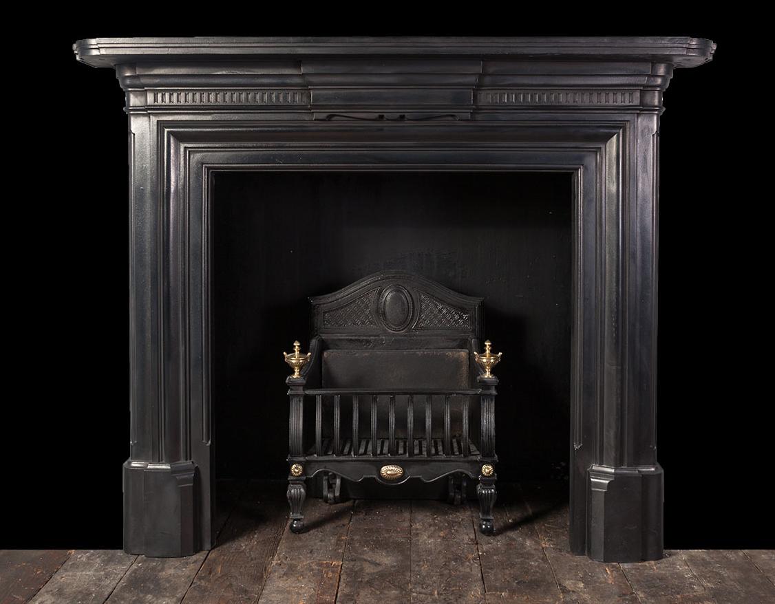 Antique Cast Iron Fireplace Ci170 19th Century