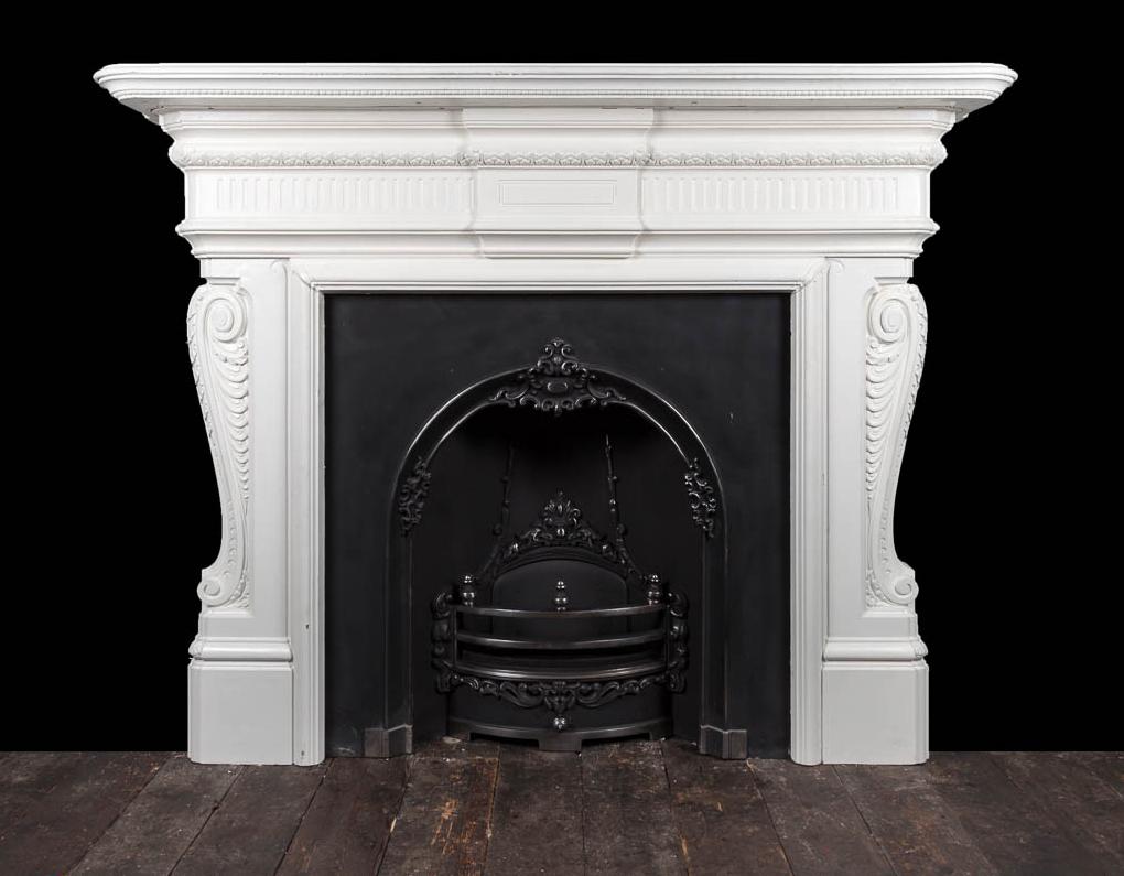 Cast Iron Fireplace Ci173 19th Century Antique Cast