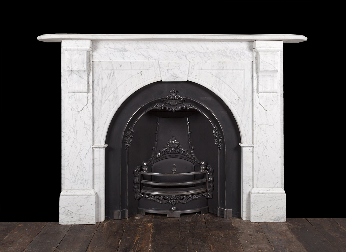 Carrara Marble Fireplace 19246 19th Century 19th
