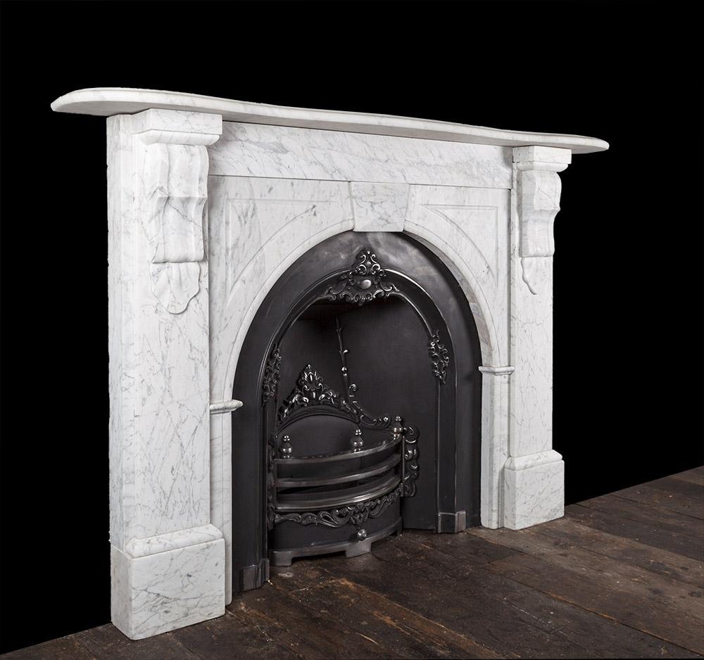Carrara Marble Fireplace 19246 19th Century 19th