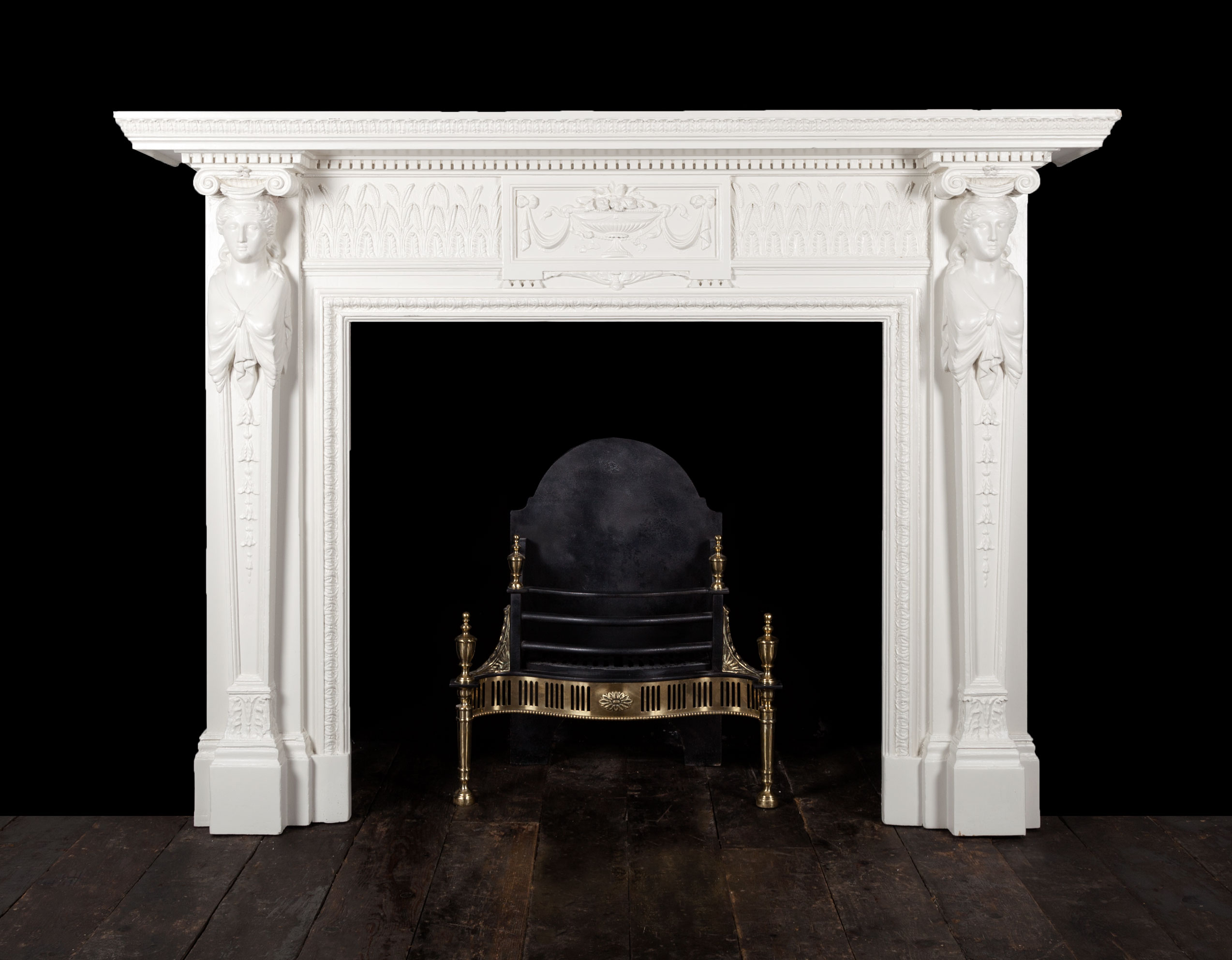 Painted Fireplace – W106
