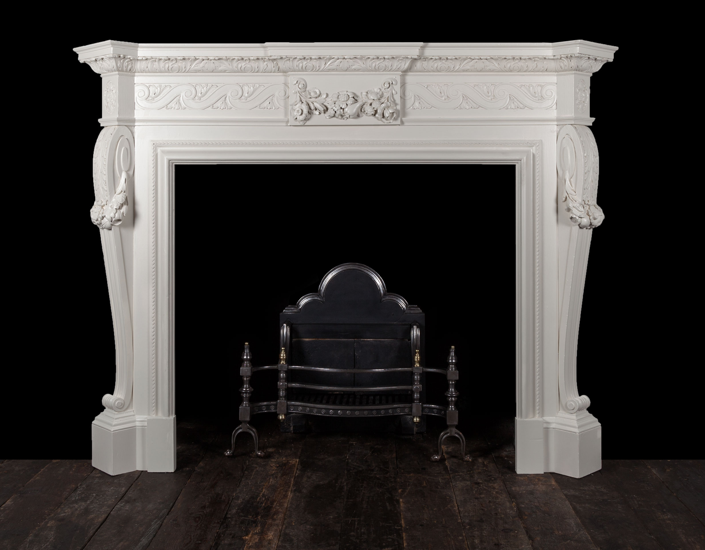 Wooden Fireplace – W108