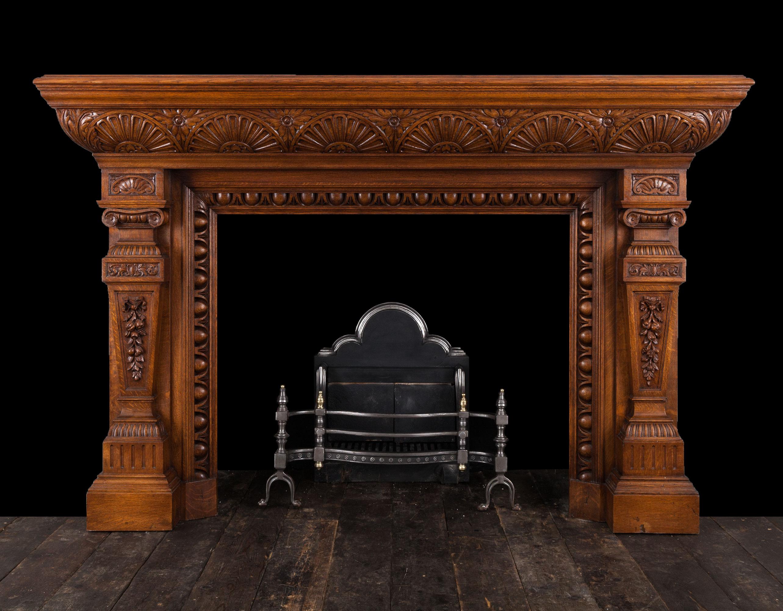 Oak Mantelpiece – W109