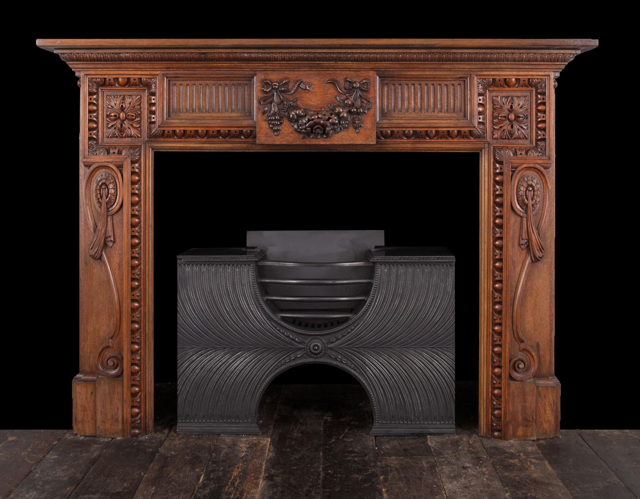 Walnut Fireplace – W111