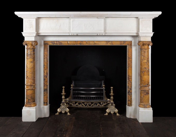 Sienna column fireplace